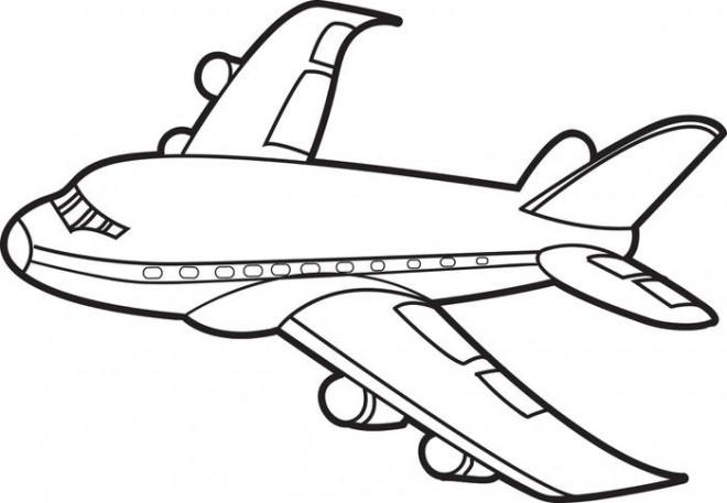Coloriage et dessins gratuits Avion vecteur à imprimer