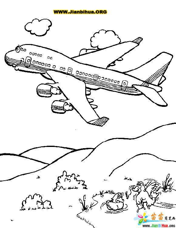 Coloriage et dessins gratuits Avion vole sur les montagnes à imprimer