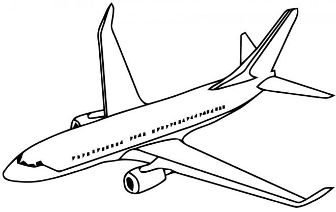 Coloriage Avion Vue De Face Dessin Gratuit A Imprimer