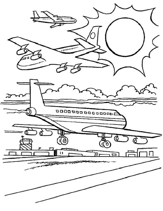 Coloriage et dessins gratuits Avions et Aéroport à imprimer