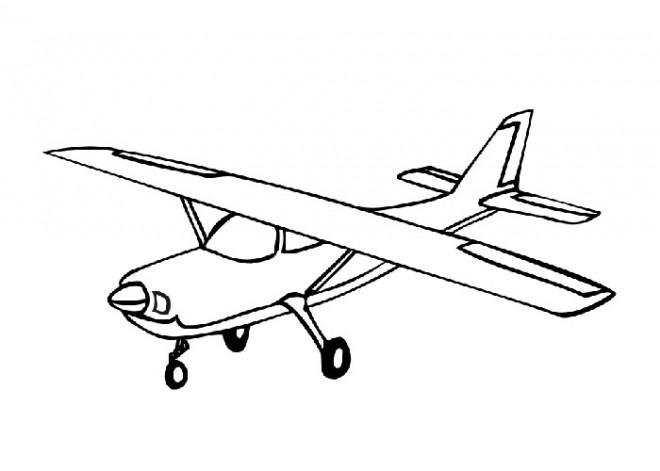 Coloriage et dessins gratuits Petit Avion à imprimer