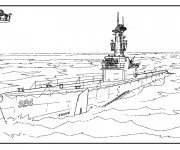 Coloriage et dessins gratuit Bateau de Guerre américain à imprimer