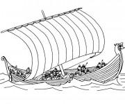 Coloriage et dessins gratuit Bateau de Guerre grec à imprimer