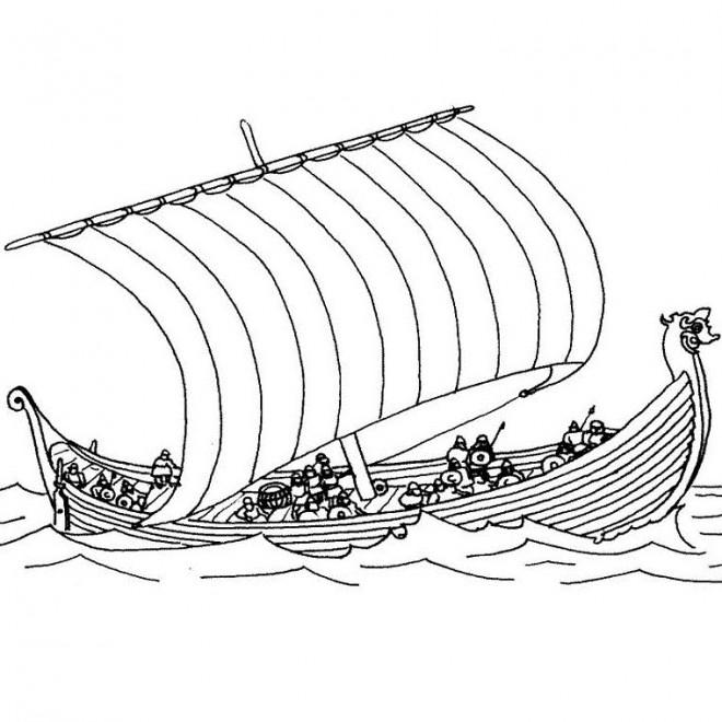 Coloriage et dessins gratuits Bateau de Guerre grec à imprimer
