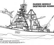 Coloriage et dessins gratuit Bateau de Guerre Rommel à imprimer