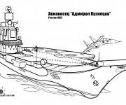 Coloriage et dessins gratuit Bateau de Guerre Russe à imprimer