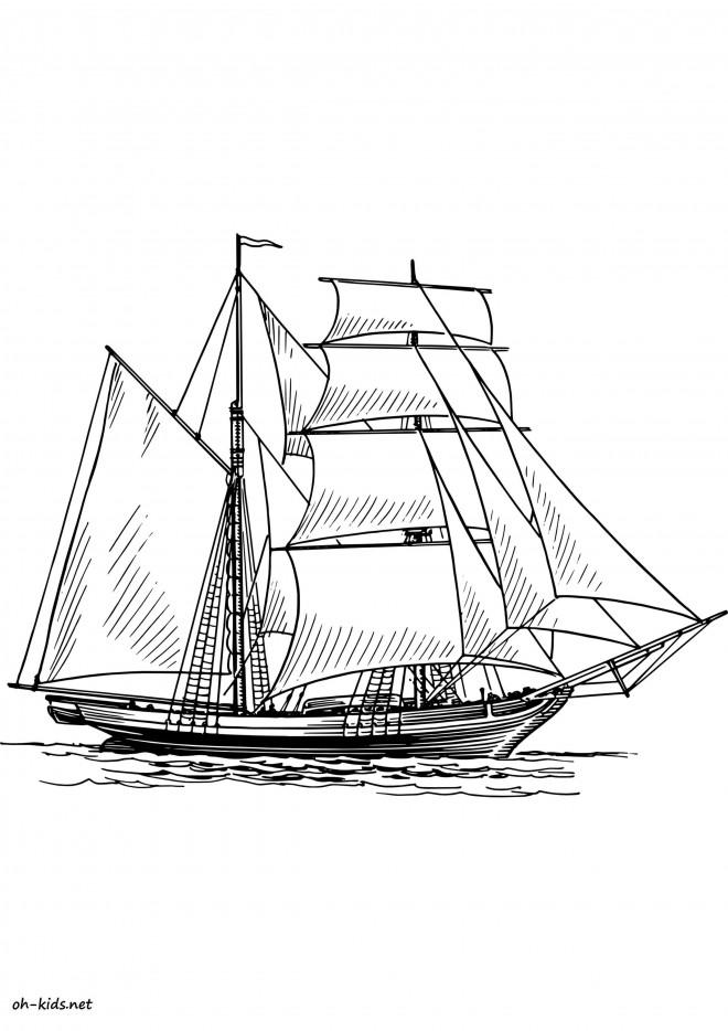 Coloriage Bateau De Pirate En Ligne Dessin Gratuit A Imprimer