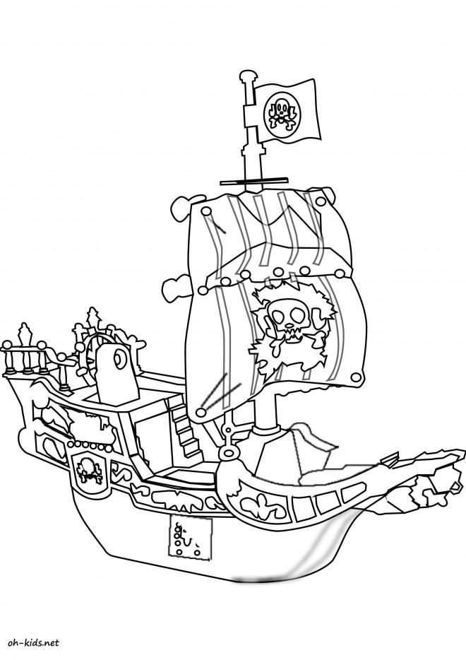 Coloriage bateau pirate dessin anim dessin gratuit imprimer - Coloriage bateau de pirate ...