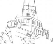 Coloriage et dessins gratuit Navire de garde-côte à imprimer