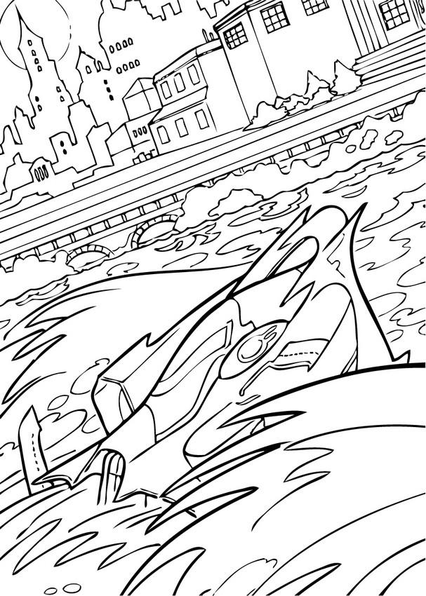 Coloriage et dessins gratuits sous-marin Guerre dessin animé à imprimer