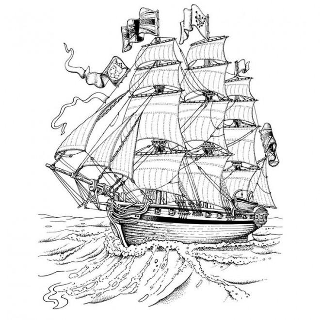 Coloriage et dessins gratuits Bateau anglais  de l'antiquité à imprimer