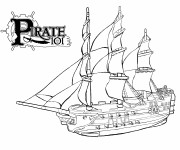Coloriage Bateau Pirate de L'antiquité