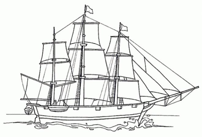 Coloriage bateau voile dessin gratuit imprimer - Dessin petit bateau ...