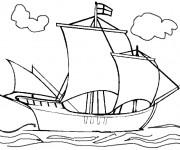 Coloriage Navire à voile anglais