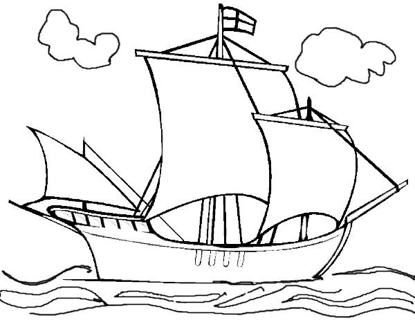 Coloriage et dessins gratuits Navire à voile anglais à imprimer