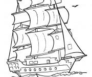 Coloriage Navire utilisé par les pirates
