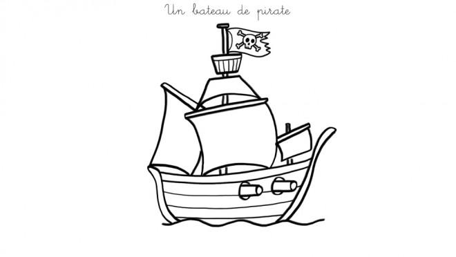 Coloriage petit bateau de pirate dessin gratuit imprimer - Coloriage bateau de pirate ...
