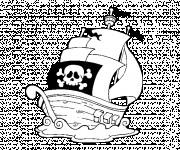 Coloriage Une Barque de Pirate