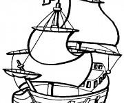 Coloriage et dessins gratuit Bateau à voile vectoriel à imprimer
