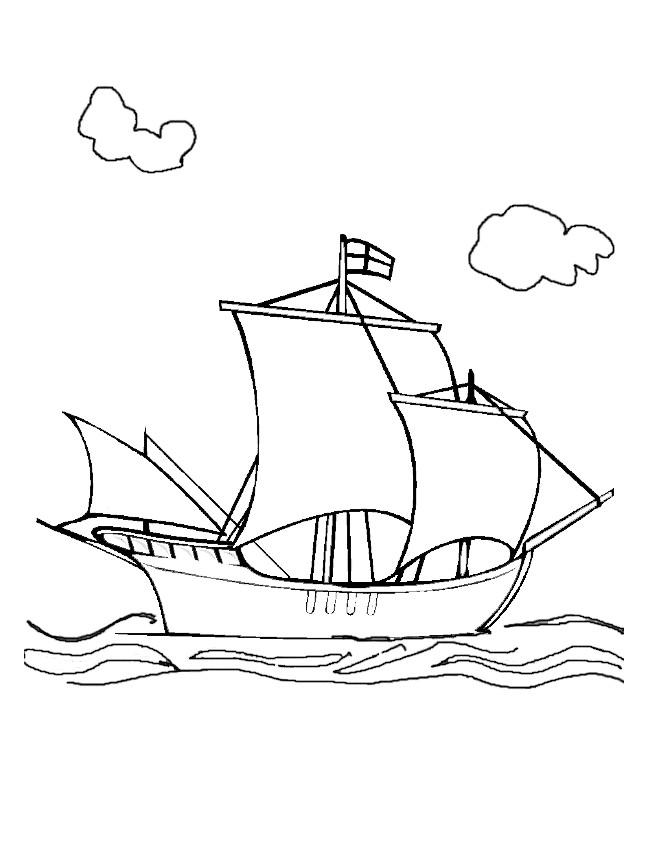 Coloriage Bateau Anglais Du Moyen âge Dessin Gratuit à Imprimer