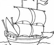 Coloriage et dessins gratuit Bateau dans l'eau à imprimer