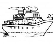 Coloriage et dessins gratuit Bateau de transport de personnes à imprimer