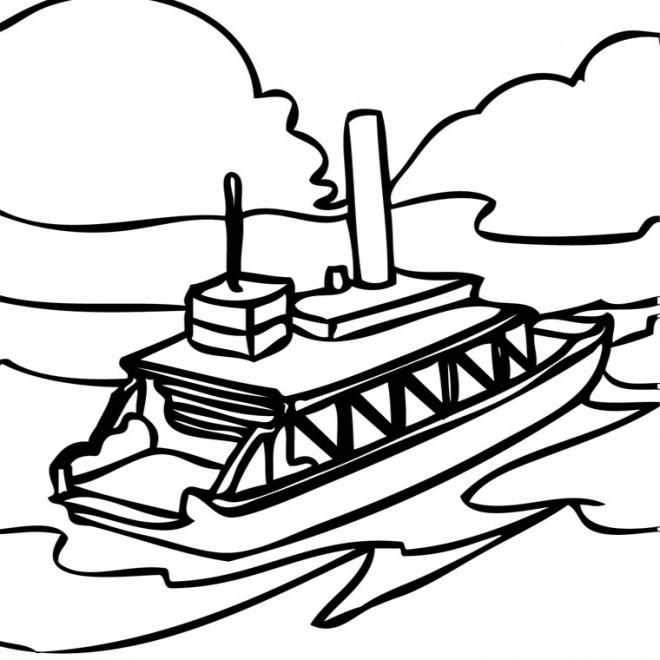 Coloriage et dessins gratuits Bateau de transport en mission à imprimer