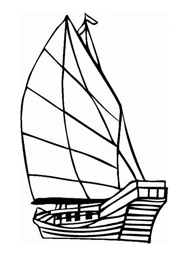 Coloriage et dessins gratuits Bateau en bois à télécharger à imprimer