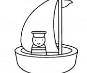 Coloriage et dessins gratuit Bateau et marin à imprimer