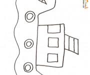 Coloriage et dessins gratuit Petit Bateau de pêche au crayon à imprimer