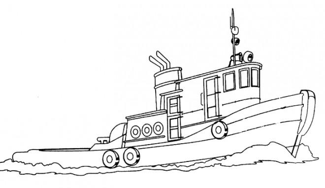 Coloriage petit bateau de p che dans la mer - Coloriage petit bateau imprimer ...