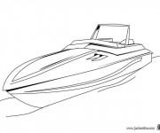 Coloriage et dessins gratuit Un petit Yacht en ligne à imprimer