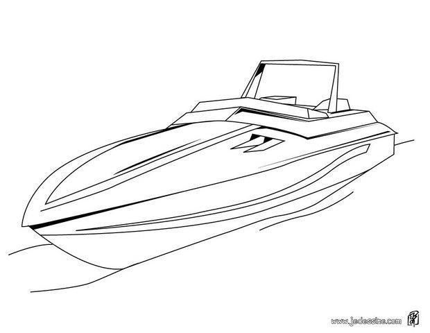 Coloriage et dessins gratuits Un petit Yacht en ligne à imprimer