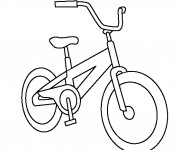 Coloriage Bicyclette 1