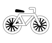 Coloriage Bicyclette 14