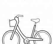 Coloriage Bicyclette 15