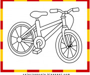 Coloriage Bicyclette 3