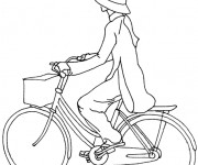 Coloriage Bicyclette 9