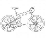 Coloriage et dessins gratuit Bicyclette à télécharger à imprimer