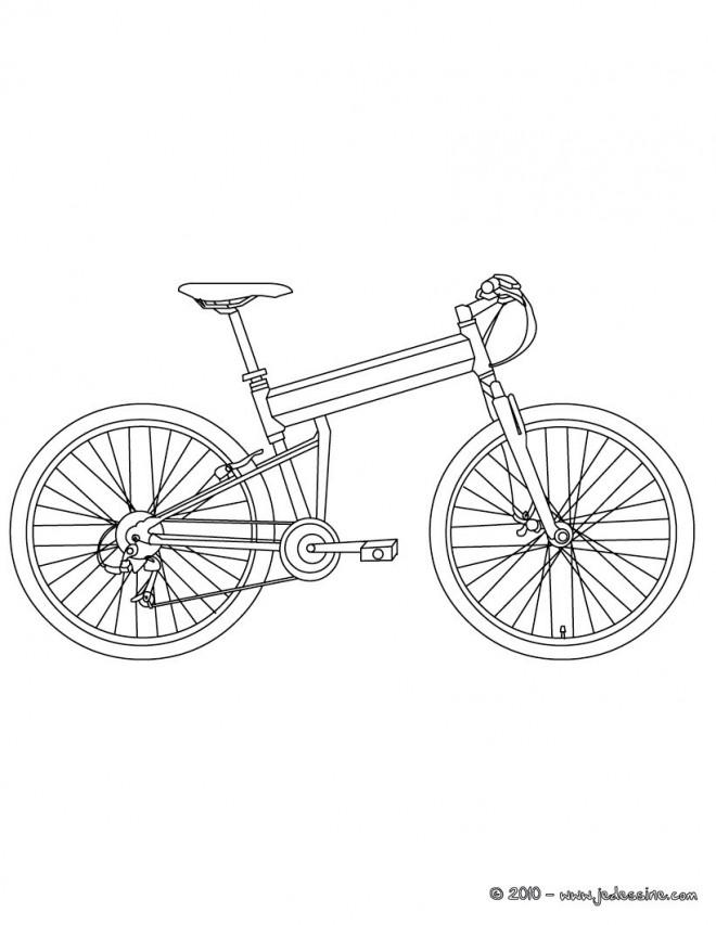 Coloriage et dessins gratuits Bicyclette à télécharger à imprimer