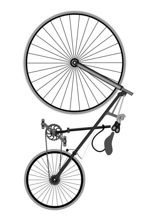 Coloriage et dessins gratuits Bicyclette classique à imprimer