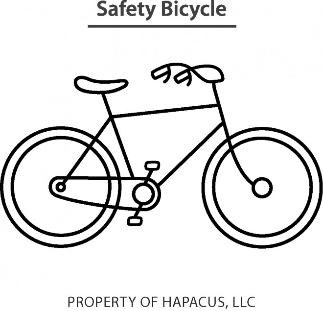 Coloriage et dessins gratuits Bicyclette de Route en Ligne à imprimer