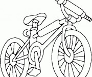 Coloriage Bicyclette en couleur