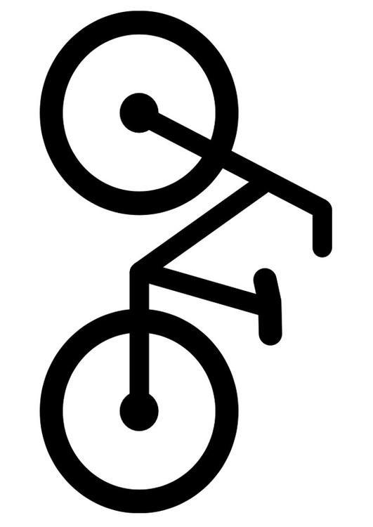 Coloriage et dessins gratuits Bicyclette en vecteur à imprimer