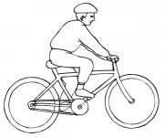 Coloriage Bicyclette et Cycliste