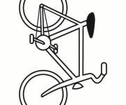 Coloriage et dessins gratuit Bicyclette facile à découper à imprimer