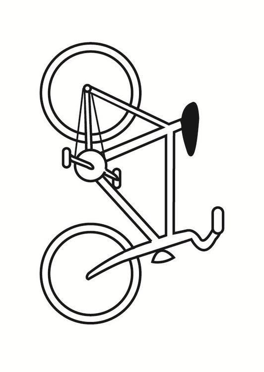 Coloriage et dessins gratuits Bicyclette facile à découper à imprimer