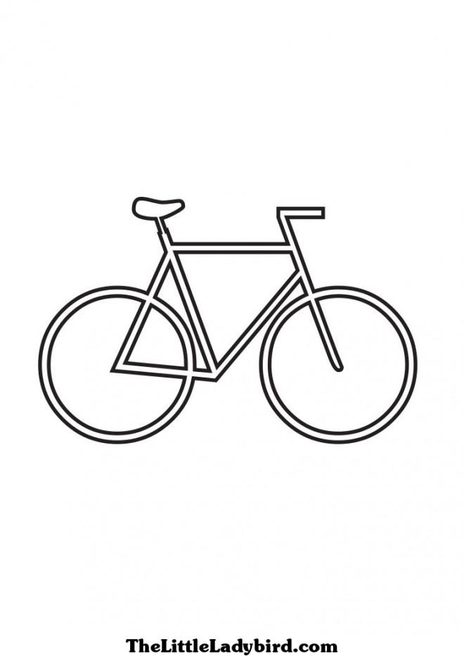 Coloriage et dessins gratuits Bicyclette Miniature à imprimer