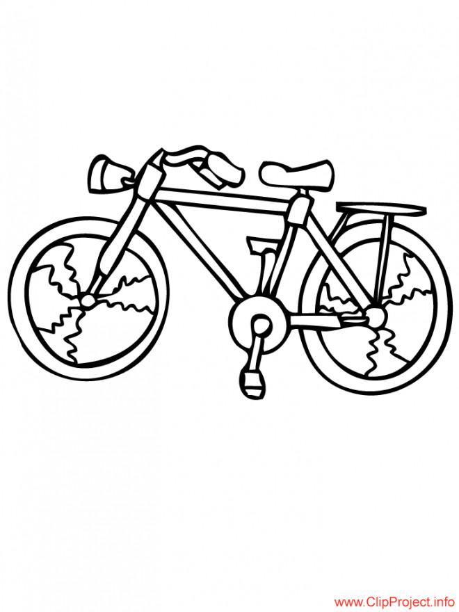 Coloriage et dessins gratuits Bicyclette ordinaire de route à imprimer