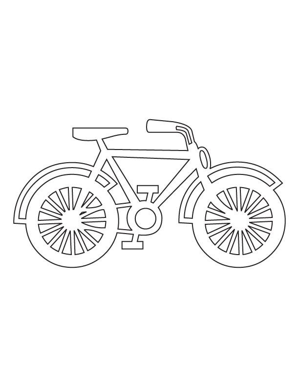 Coloriage et dessins gratuits Bicyclette pour Enfant à imprimer